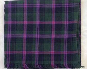 Cooper modern tartan scarf - cooper tartan wrap - cooper tartan shawl - in 100% cotton