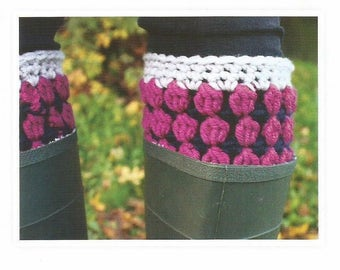 Instant Download - PDF- Beautiful Boot Cuffs Crochet Pattern (CA23)