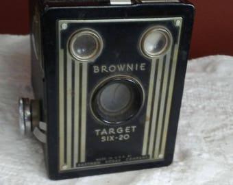 KODAK Brownie Box Camera Target Six-20 with Leather Strap