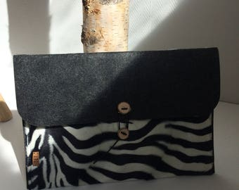 IMac cover zebra/felt