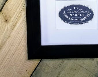 Adrie Antique Black Wood Picture Frame 8x10, 9x12, 11x14, 14x16, 16x20 Custom Standard and custom sizes available.