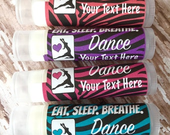 Dance Lip Balm Party Favors/5Pc/Dance/Party Favors/Girl Birthday Party/Lip balm/Chapstick Party Favor/Gift Bags/Team Award
