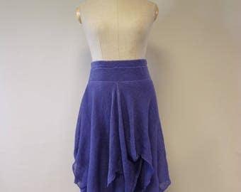 Summer handmade violet linen skirt, L size.