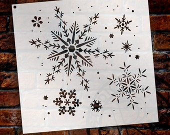"""Delicate Snowflake Stencil by StudioR12 - Christmas, Holiday, Santa, Painting, Winter, Window, Mixed Media, Chalk- 6 1/2"""" X 6 1/2""""- STCL163"""