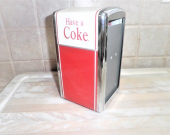 Vintage metal Coka Cola napkin dispenser