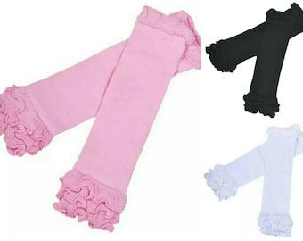 Ruffled Leg Warmers - Infant Leg Warmers - Black Leg Warmers - Baby Leg Warmers - White Leg Warmers - Pink Leg Warmers - Cotton Leg Warmers