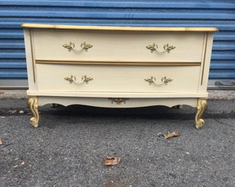 Vintage french storage bench