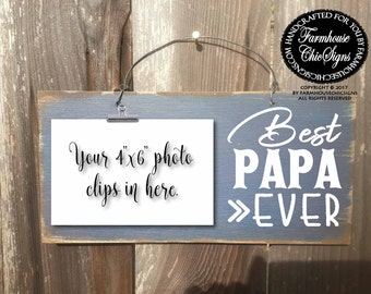papa, papa gift, gift for papa, best papa, best papa ever, world's best papa, papa sign, papa picture frame, papa gifts, 270
