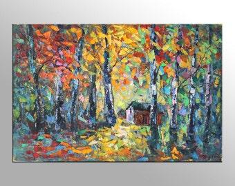 Landscape Painting, Large Wall Decor, Canvas Painting, Abstract Painting, Large Canvas Painting, Contemporary Painting,Landscape Painting