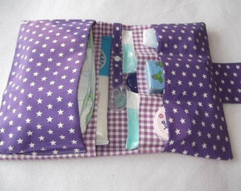 Diaper bag diaper bag Star purple