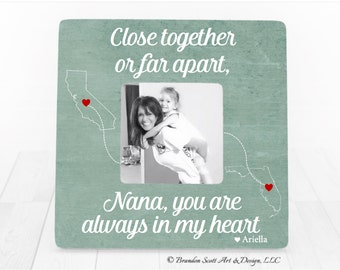 Long Distance Nana, Gift for Nana, Nana Gift, Personalized Picture Frame, Gift for Grandma Nana Mimi Gift, Long Distance Nana Gift