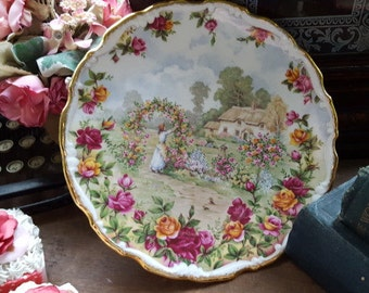 Beautiful Vintage Royal Albert Old Country Roses Cottage Plate