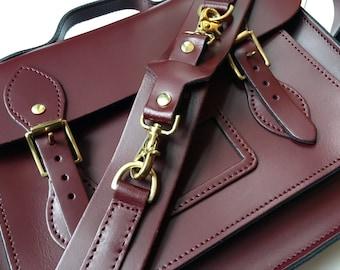 Burgundy Backpack Satchel W/ Detachable Strap - Handmade In UK - Back to School - Burgundy Satchel - Burgundy Backpack - Leather Backpack