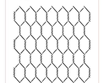 Chicken Wire Background Stencil