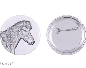 Buttons with a horse -Icelandic horse