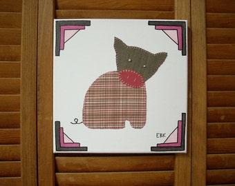 Sitting Piglet #2 Fabric Wall Art