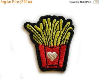 HALF PRICE Embroidered  Fries Appliqué