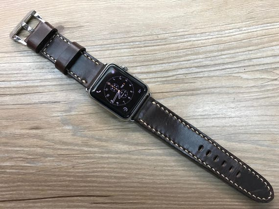 Apple Watch, 38mm, 42mm, Apple Watch Strap, iwatch, Series 1, Series 2, Apple Watch band, Handmade, Leather Watch Band, Vintage Brown
