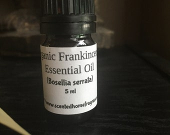 Organic Frankincense Essential Oil, Frankincense Boswellia serrata, Pure Essential Oil, Certified Organic, Buy Essential Oils,