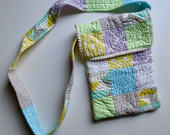 Quilted Cotton Purse, Quilted Bag, Girls Purse, Teen Purse