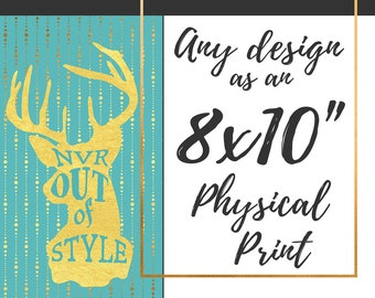 Print and Mail any 8x10 Design!