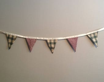 Bunting Flag Banner - Pop's Flannel Pattern