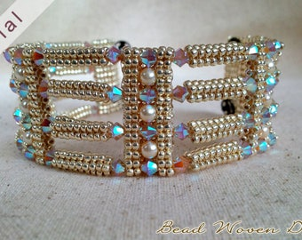 Glistening Channel Bracelet Tutorial: PDF and Video Instructions