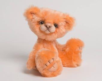 Sherbet - 11.5 inch Melon Mohair Artist Bear