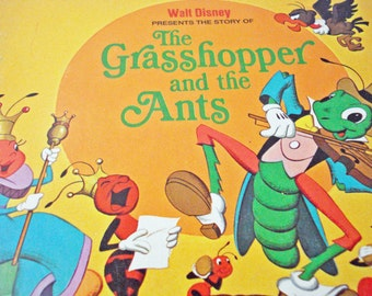 Walt Disney The Grasshopper And The Ants Childrens Book