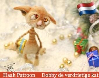 129NLY Haak patroon - Dobby de verdrietige kat - Amigurumi soft toy PDF file by Pertseva Etsy
