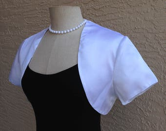 Elegant Solid White Bolero Shrug