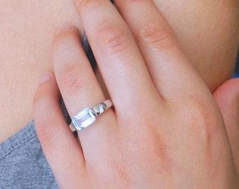 Swiss Blue Topaz Ring Silver