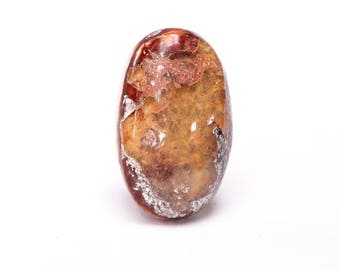 Mexican opal gemstone cabochon - large oval pendant - semi precious stone cabochon - gemstone - minerals and gems - 30mm X 20mm
