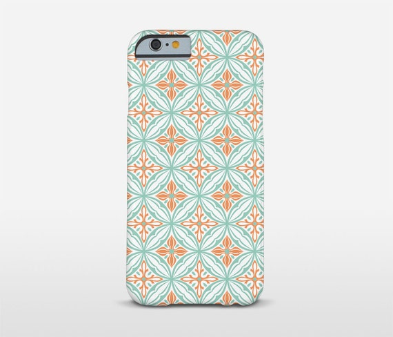 Modernist Phone Case, Green And Red, Tile Design, iPhone Case, Moto Case, Cell Phone Case, Google Cell Case