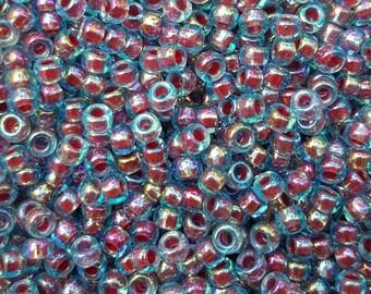 Miyuki 6/0 Japanese Seed Beads - Hot Pink Lined 6-9340 - 20 grams
