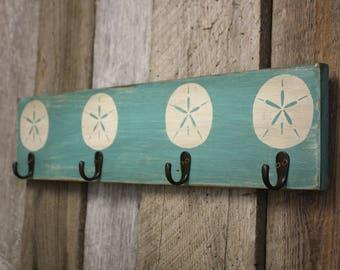 Beach Wall Hanger, Rustic Hanger, Wooden Wall Hanger, Beach Towel Hanger