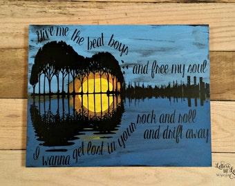 Gift for Music Lover, Give me the beat boys, Music Lover's Gift, Country Music Lover, Friendship Gift, Music Teacher Gift,Guitar Sunset