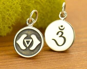 Sterling Silver Third Eye Chakra Charm.