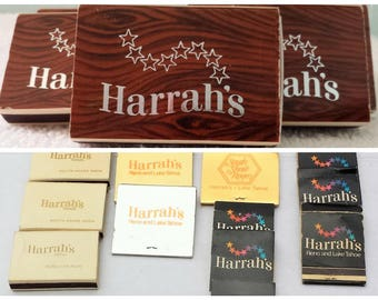 Vintage Harrah's Matchbook / Harrah's Matchbox /Harrah's Matchcovers / Vintage Lake Tahoe Casino/ Reno / Vintage Casino