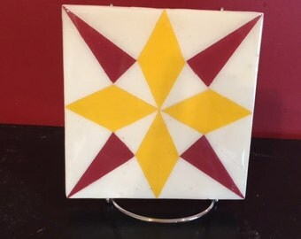 "6"" x ""6 Very MIni Barn Quilt - Epoxied for heat resistance - Free Shipping!!"