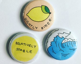 Sunny Button Badge