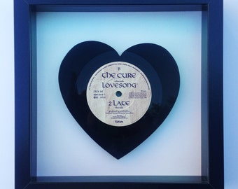 The Cure 'Lovesong' Heart Shaped Vinyl Record Art