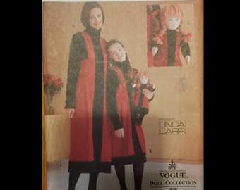 """VOGUE CRAFT 9778, sewing pattern, matching mom/daughter/doll outfits, sewing, pattern, 18"""" doll, designed by Linda Carr, sewing, pattern"""