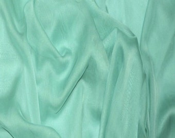 "JN00133 Jade 62 ChiffonTwo Tone Soft Deep Drape Smooth Sheer Super Lightweight Fashion Home Decor Crafting 58/60"" Fabric By The Yard"