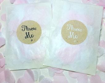 Biodegradable confetti handmade rainbow decorations - individual packets