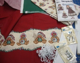 Lot 12 Daisy Kingdom Ted E Bear Christmas fabric
