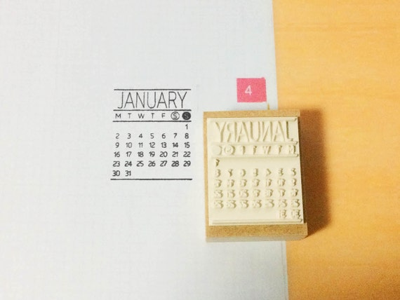 Calendar Stamp Bullet Journal : Calendar stamp mini bullet