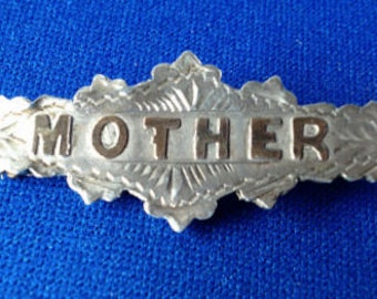 Victorian silver 'Mother' Brooch
