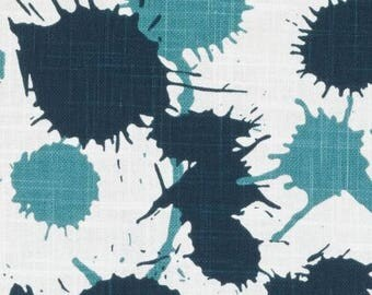 SALE!!!!,Splatter Teal, By Duralee Fabric, Thomas Paul Prints Exclusively for Duralee, Fabric By The Yard