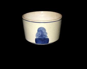 Vintage Crock Bowl, Windmill Bowl, Vintage Stoneware Bowl, Home Decor Bowl, Kitchen Bowl, Candy Bowl, Table Decor, Stoneware